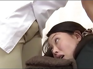 Moonless haired Japanese babe massaged and pussy fucked afterwards