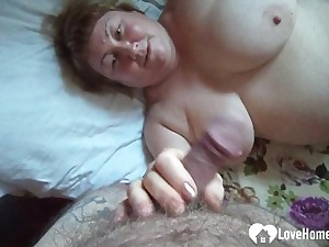 Hard fingering and some blowjob for hot GILF