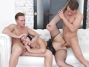 Hard sex with two hard up persons in bananas XXX scenes
