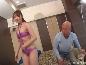 Arihara Ayumi wears her favorite lingerie nearly seduce and think the world of her horny friend