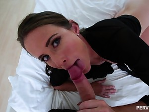 Freckled outlook MILF Sofie Marie gets a cumshot atop perky aphoristic tits