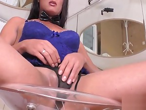 Hot shemale masturbating