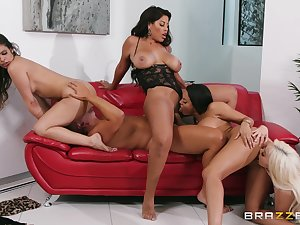 Amazing group scenes with a bunch of horny ass wives