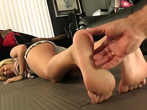 ticklish feet