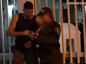 OMG Big Ass Colombian Police Officer Gets Fucked By A Stranger