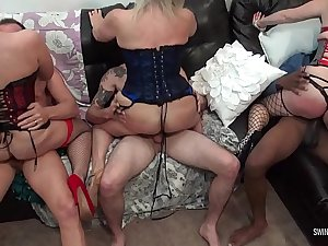 Horny amateur swingers get wild at hardcore sex party