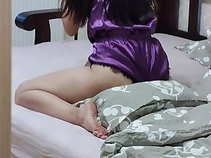 Spying on step sister while she humping pillow. Fucked this nympho when parents in the kitchen