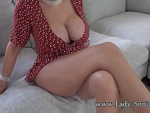 Your sexy aunt Lady Sonia helps you finish in her mouth